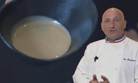 Sesam cream: Chef Bouchenoire's touch