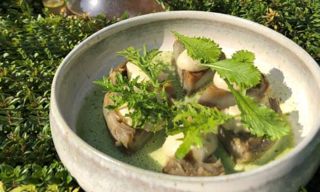 Artichoke heart with wild garlic by Nicolas Masse